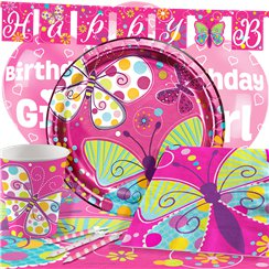 Butterfly Sparkle Party Pack - Deluxe Pack for 8