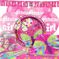 Butterfly Sparkle Party Pack - Deluxe Pack for 16