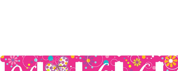 Butterfly Sparkle Happy Birthday Letter Banner