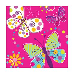 Butterfly Sparkle Luncheon Napkins - 3ply Paper