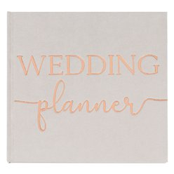 Botanical Wedding Grey Suede Planner