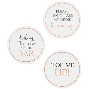 Botanical Wedding Drink Coasters
