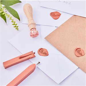 Botanical Wedding Copper Wax Love Stamp Kit