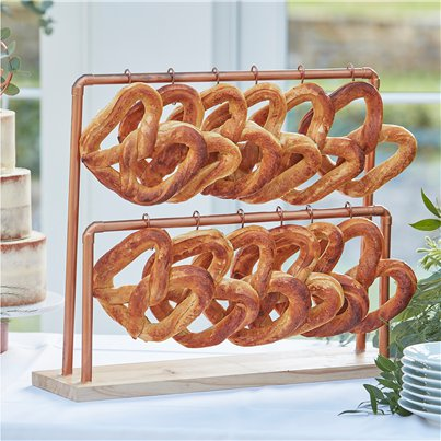 Botanical Wedding Copper Pretzel Stand