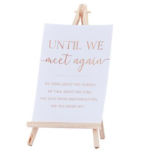 Botanical Wedding Commemorative Sign & Easel - 30cm