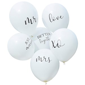 Botanical Wedding White Balloons - 12