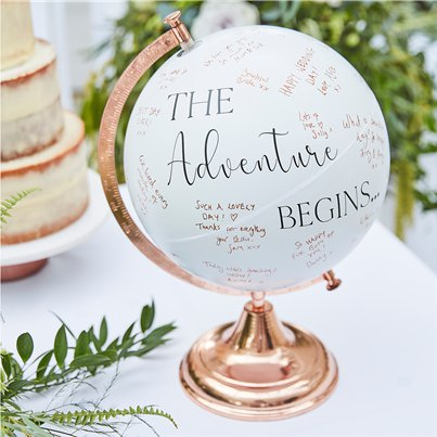 Botanical Wedding Globe Guest Book