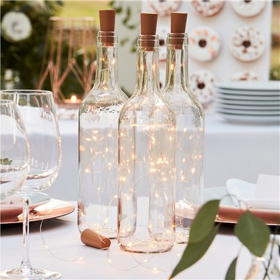 Botanical Wedding Cork Bottle Lights