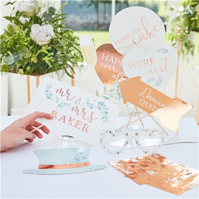 Botanical Wedding Photo Booth Props