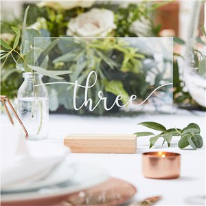 Botanical Wedding Acrylic Table Numbers 1-12
