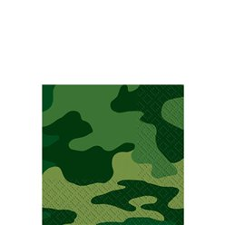 Camouflage Beverage Napkins - 2ply Paper