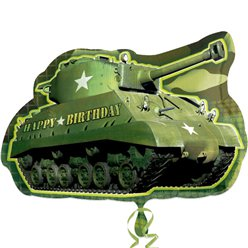 "Tank Shaped Camouflage SuperShape Balloon - 26"" Foil"