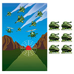Camouflage Pin the Tank Party Game