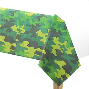 Camouflage Party Tablecover - 137cm x 259cm Plastic