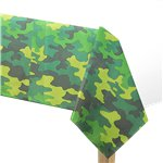 Camouflage Party Tablecover - 137cm x 259cm Paper
