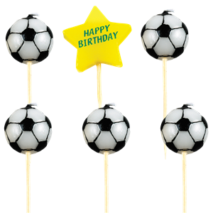 Football Happy Birthday Pick Candles