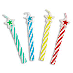 Multi Coloured Star Top Candles