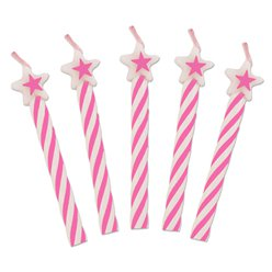 Pink Star Top Candles