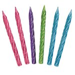 Glitter Spiral Brights Candles