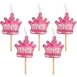 Princess Crown Candles on Sticks