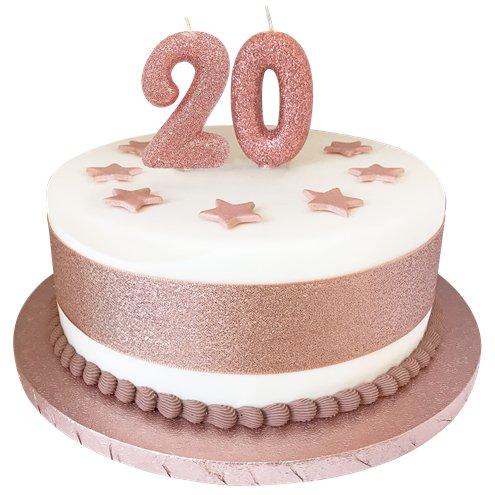 Awe Inspiring 2Nd Birthday Candles Rose Gold 7Cm Party Delights Funny Birthday Cards Online Benoljebrpdamsfinfo