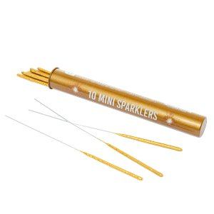 Mini Gold Tube Sparklers - 14cm