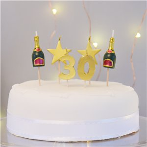 30th Milestone Cake Candle
