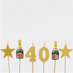40th Milestone Cake Candle