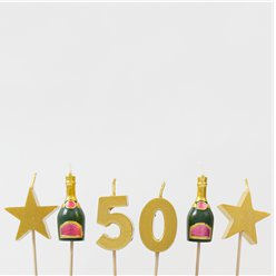 50th Milestone Cake Candle