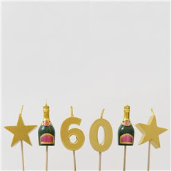 60th Milestone Cake Candle