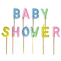 Baby Shower Pick Candles - 7.5cm