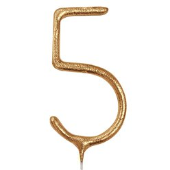 Gold Number 5 Sparkler Candle - 17.7cm