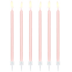 Light Pink Tall Candles - 14cm