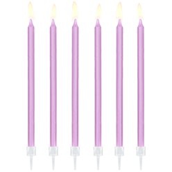 Lilac Tall Candles - 14cm