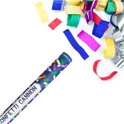 Multi Coloured Confetti Cannon - 20cm