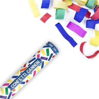 Multi Coloured Confetti Cannon - 40cm
