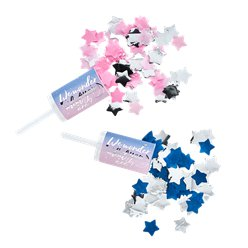 Gender Reveal Confetti Push Poppers - Pink & Blue