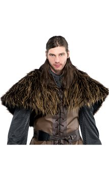Furry Shoulder Cape - Adult
