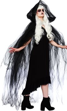 Black Temptress Cape - Adult