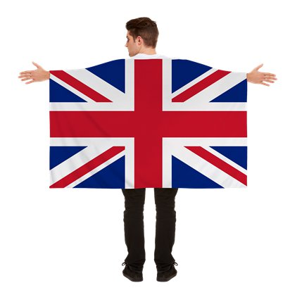 Union Jack Cape - Adult Fancy Dress Costume Accessories - Royal Wedding Street Party  front