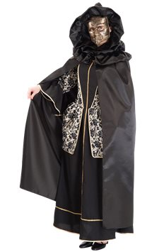 Satin Venetian Hooded Cape