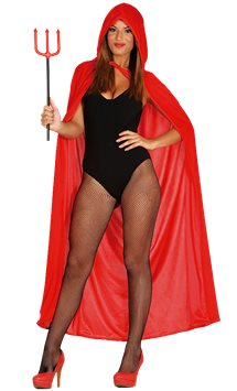 Red Velvet Hooded Cape - Adult