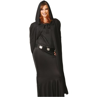 Cape with Hood - Adult Halloween Fancy Dress Accessories front