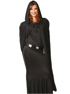 Black Hooded Cape - Adult