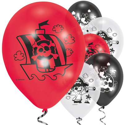 "Captain Pirate Balloons - 9"" Latex"