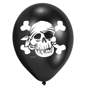 Captain Pirate Balloons in Assorted Colours - 11
