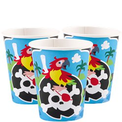 Captain Pirate Paper Cups - 250ml