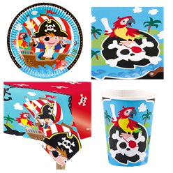 Captain Pirate Party Pack - Value Pack for 8