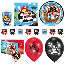Captain Pirate Party Pack - Deluxe Pack For 16