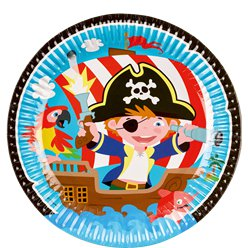 Captain Pirate Paper Plates - 23cm